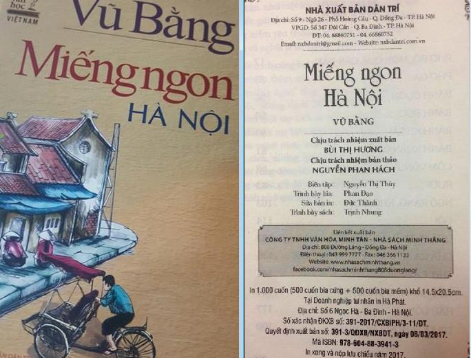 Phạt các đơn vị gần 300 triệu đồng vì sách 'Miếng ngon Hà Nội'