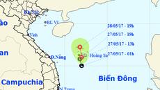Dự báo thời tiết 28/5: Xuất hiện vùng áp thấp trên biển Đông