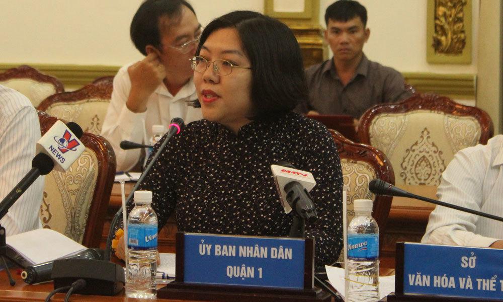 TP.HCM thông tin về việc Phó chủ tịch quận 1 không xuống đường