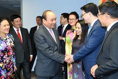 Thủ tướng thăm Phái đoàn Thường trực Việt Nam tại Liên Hợp Quốc