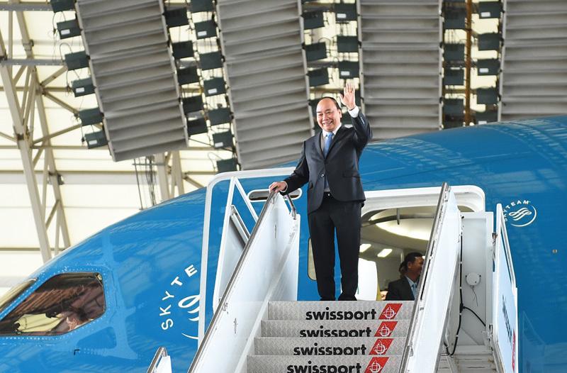 Hình ảnh ngày đầu tiên Thủ tướng đến Mỹ