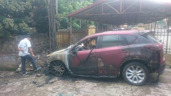 cháy xe, cháy ô tô, đỗ ô tô, đỗ xe, tai nạn giao thông