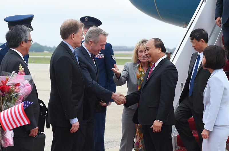 Hình ảnh lễ đón Thủ tướng tại Thủ đô Washington