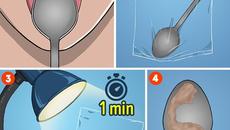 Mẹo kiểm tra sức khỏe trong một phút bằng thìa