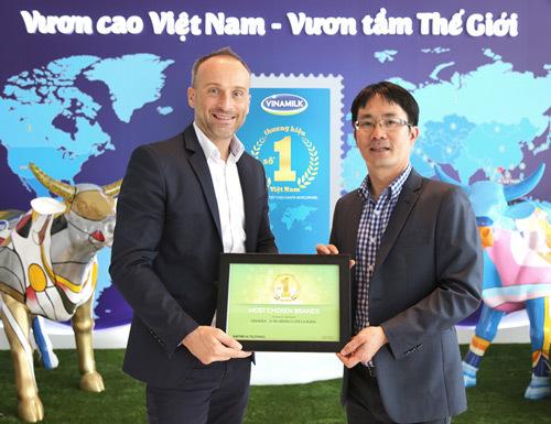 Vinamilk -Top thương hiệu được lựa chọn nhiều nhất 3 năm liền