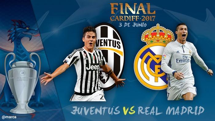 Chung kết C1 Real Madrid vs Juventus, Xem trực tiếp chung ...