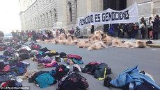 Phụ nữ khỏa thân biểu tình ở dinh Tổng thống Argentina