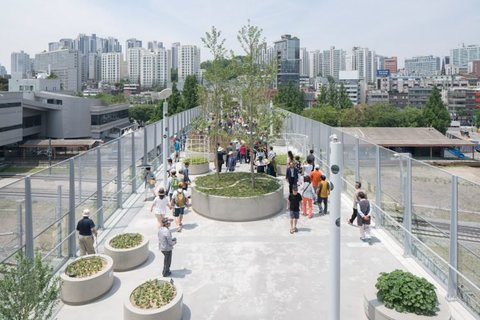 Cầu vượt được biến thành vườn treo ở Seoul