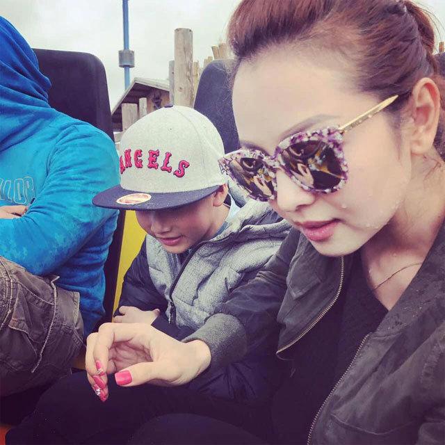 Jennifer Phạm đưa con trai Bảo Nam đi chơi ở Mỹ trước khi về Việt Nam