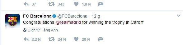 Tin thể thao tối 4/6: Hành động bất ngờ của Barca với Real