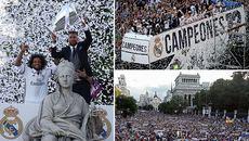 Real Madrid ăn mừng hoành tráng chưa từng thấy