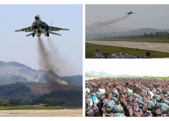 Phi đội Triều Tiên thị uy sức mạnh trên không