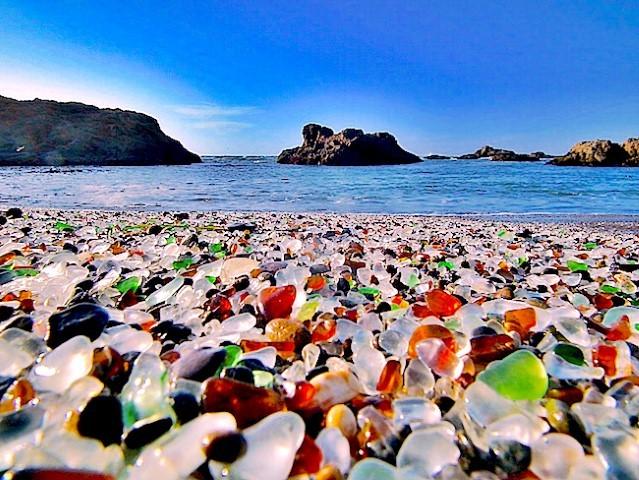 bãi biển, bãi biển thủy tinh, du lịch nước ngoài, cảnh đẹp thế giới