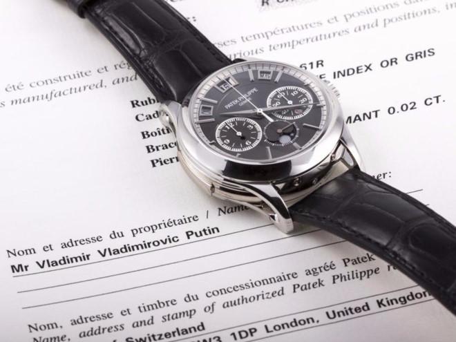 Đồng hồ 1 triệu USD của ông Putin sẽ được đem ra đấu giá?