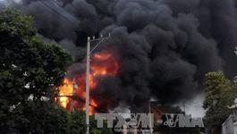 Cháy lớn tại nhà máy nhiệt điện Phả Lại