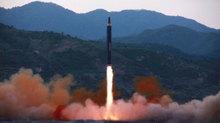 Video tên lửa đất đối hạm Triều Tiên phóng ra biển