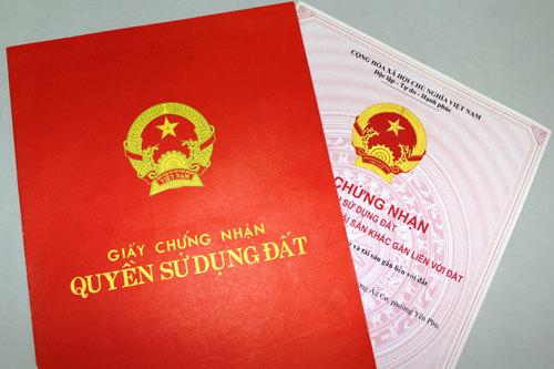 sổ đỏ, giấy chứng nhận quyền sử dụng đất