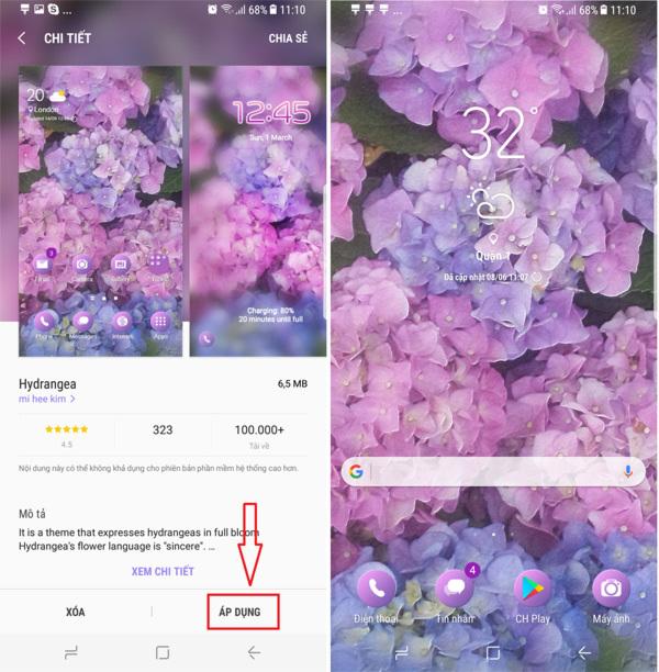 Galaxy S8, tùy chỉnh,