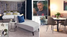 """Bí mật nơi """"trú ẩn"""" gần 1 ngàn bảng/đêm của Mourinho"""