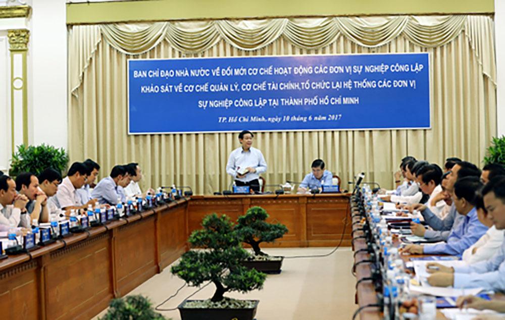 Phó Thủ tướng khảo sát tình hình các đơn vị sự nghiệp công tại TP.HCM