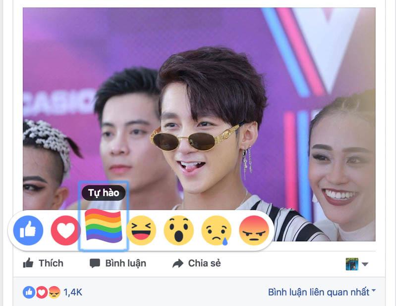 Làm sao để có biểu tượng cầu vồng trên Facebook?
