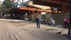 Ống tuýp thép rơi từ dự án đường sắt đô thị