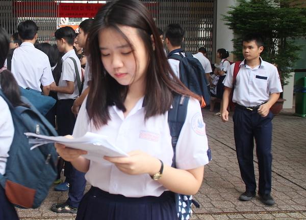 điểm thi lớp 10,tuyển sinh lớp 10,thi vào lớp 10,TP.HCM