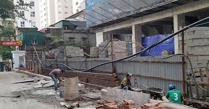 chung cư Hà Nội, dự án sai phép, xử phạt công trình vi phạm