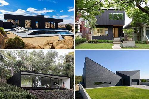 Ngắm 8 ngôi nhà hiện đại, sang trọng đen sì như than củi