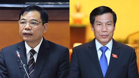Nguyễn Xuân Cường, Nguyễn Ngọc Thiện, chất vấn, Bộ trưởng NN&PTNT, Bộ trưởng VH-TT-DL