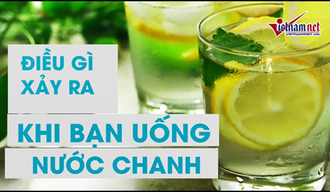 nước chanh tốt cho sức khỏe