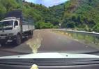 Xe bồn vượt ẩu trên đèo, suýt gây tai nạn