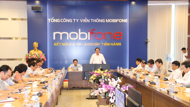 bộ TT&TT,Bộ trưởng Trương Minh Tuấn,làm việc với MobiFone