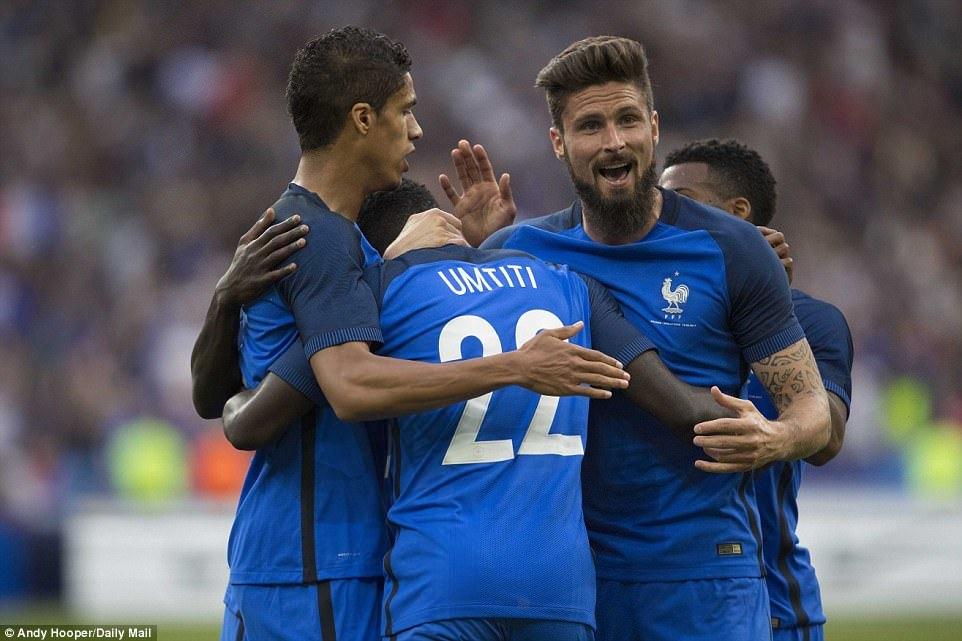 Pháp, Anh, giao hữu quốc tế, kết quả bóng đá