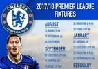 Lịch thi đấu của Chelsea mùa giải 2017/18