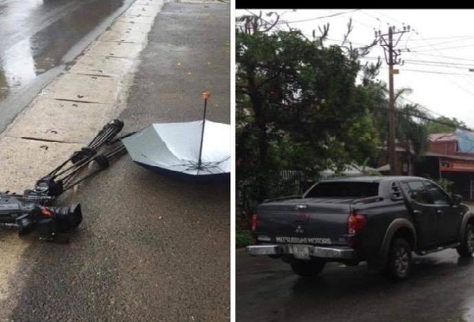 Bắt khẩn cấp lái xe đâm hỏng máy quay VTV