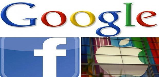 Google, Apple, Amazon, Facebook, Microsoft