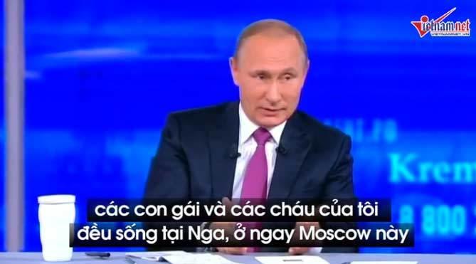 Ông Putin lần đầu 'bật mí' về con cháu