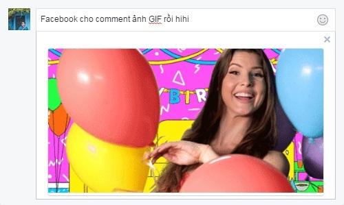 Người dùng Việt đón tin vui, Facebook đã cho comment ảnh GIF