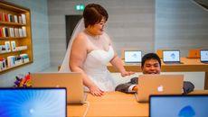 Bộ ảnh cưới không thể chất hơn của cặp đôi iFan chồng gầy vợ béo