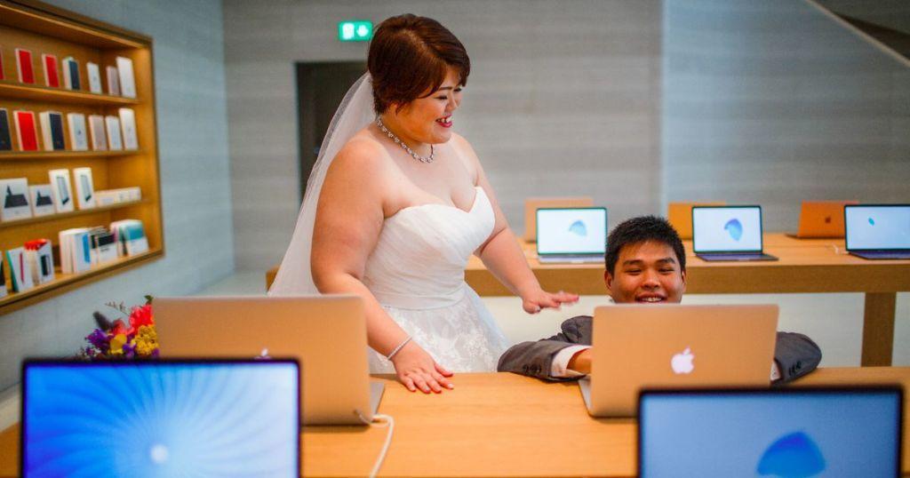 Apple, iFan, Ảnh cưới, Cộng đồng mạng