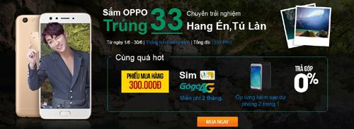 Sắm Oppo trúng 33 chuyến trải nghiệm phim trường Kong