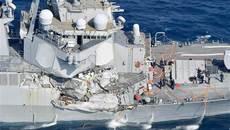 Tàu chiến Mỹ va chạm tàu hàng Philippines, 7 thủy thủ mất tích
