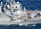 Tìm thấy thi thể 7 thủy thủ trong tàu chiến Mỹ