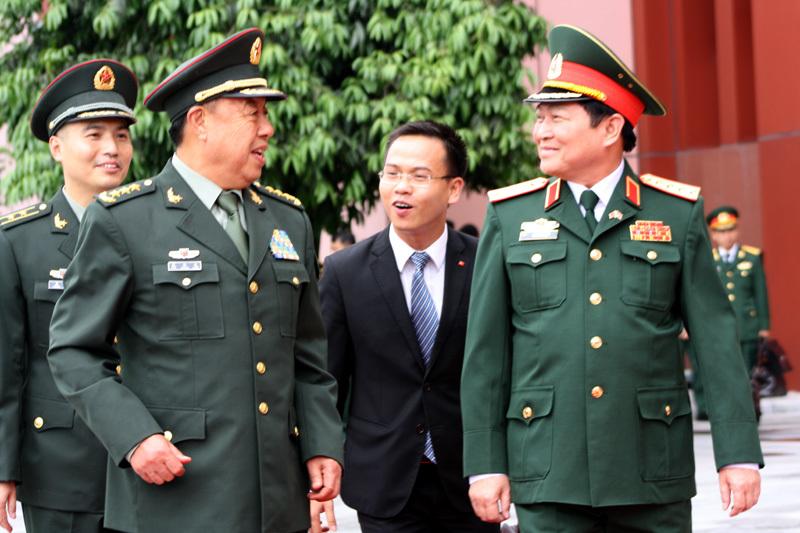 Phó chủ tịch Quân ủy TƯ Trung Quốc thăm Việt Nam