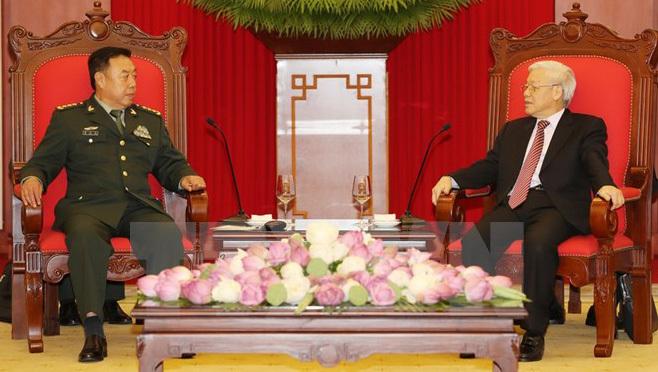Tổng Bí thư, Nguyễn Phú Trọng, Chủ tịch nước, Trần Đại Quang, Thủ tướng, Nguyễn Xuân Phúc, Việt-Trung, giao lưu biên giới Việt-Trung