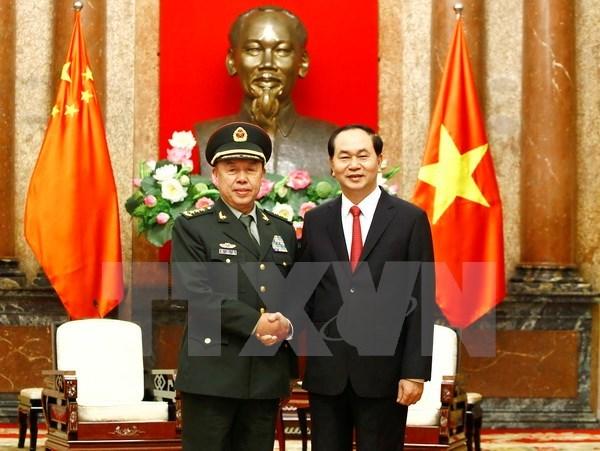 Tổng bí thư tiếp Phó chủ tịch Quân ủy TƯ Trung Quốc