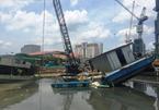 Chìm sà lan thi công cống ngăn triều 10 nghìn tỷ ở Sài Gòn