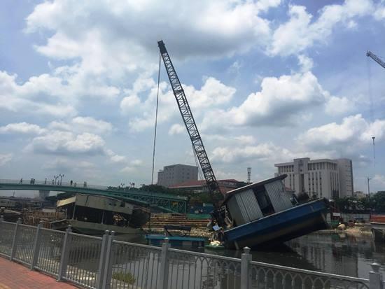 chìm sà lan, chìm thuyền, tai nạn, dự án chống ngập, Sài Gòn