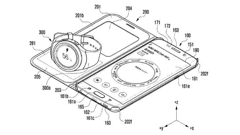 Samsung có sáng chế mới, sạc smartwatch bằng chính smartphone